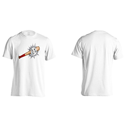 Retrò baseball regalo diavolo divertente arrabbiato Uomo T-shirt d785m White