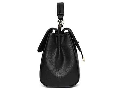 Borsa a tracolla retro borsetta obliqua femminile sacchetto di marea semplice atmosfera vino rosso femmina borsa-B A