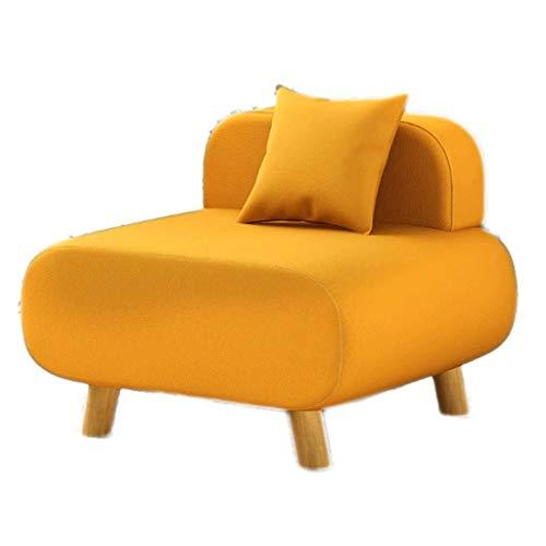 XIAOPING Creativo sofá de Respaldo Perezoso balcón Individual sillón Cama de Madera...
