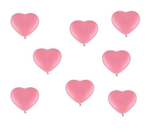 25 pinke / rosa Herzluftballons - ca. Ø 26cm - 25 Stück - Farbe Pink / Rosa- Herz Luftballons Heliumgeeignet - Top Qualität -