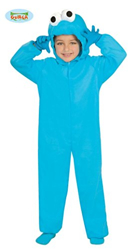 Keks Kostüm Kinder - Guirca blaues Monster Kostüm für Kinder
