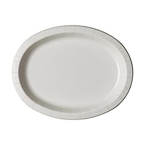 Dixie Ultra SX11PLW Heavy Weight Oval Paper Platter, 11
