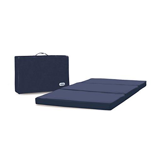 Colchón plegable para cuna de viaje 60x120 con bolsa de transporte, color azul marino