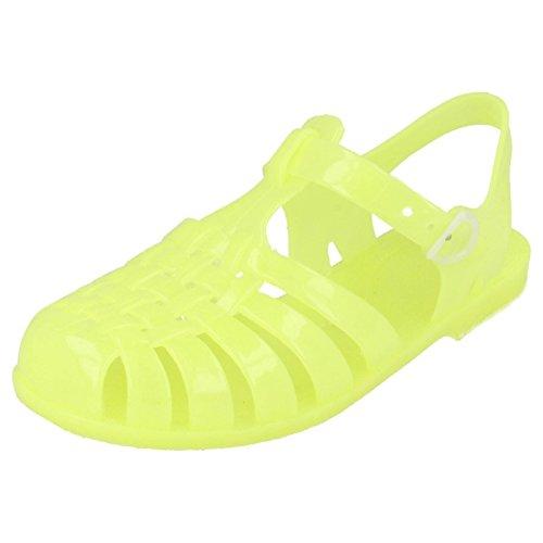 Mädchen im Dunkeln leuchtende Gummi-Sandalen H2310, gelb - zitronengelb - Größe: One Size