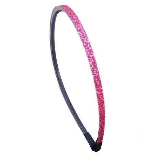 52-208 - Cheveux pour cheveux PVC revêtement paillettes cm 0,5 x cm 13 diamètre - Bulles pour cheveux Fuchsia