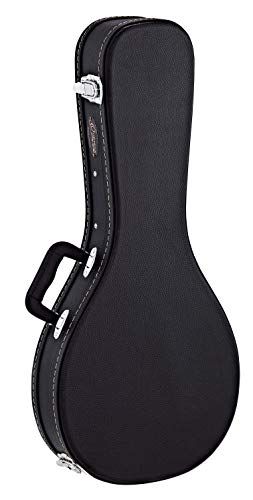 Ortega Guitars Koffer für A-Style Mandoline - schwarz, flat top, Economy Series, chrom Hardware (OMCSTD-A)