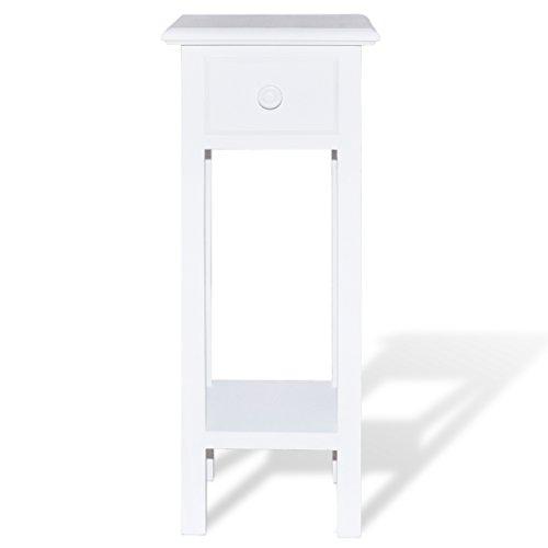 Festnight tavolo consolle ingresso tavolino laterale per telefono con cassetto bianco