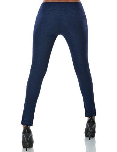 Damen Hose Treggings Skinny (Röhre weitere Farben) No 13997 Navy