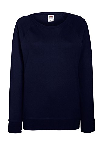 Fruit of the Loom: Lady-Fit Lightweight Raglan Sweat 62-146-0, Größe:2XL;Farbe:Deep Navy (Womens Navy Raglan)