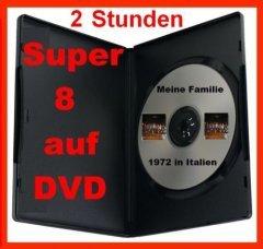 2 Stunden SUPER 8 auf DVD Projektor DIGITALISIEREN ÜBERSPIELEN KOPIEREN (Super-8-projektor)