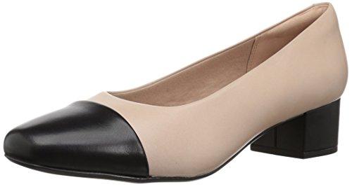 Clarks Damen Chartli Diva, Nude Pink/Black Leather Combo, 37.5 EU W