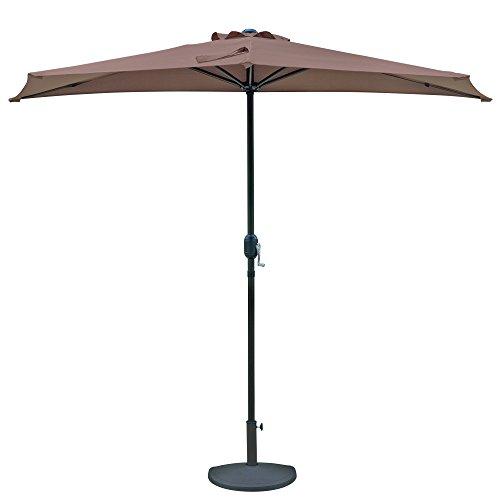 Island Umbrella NU5409CF Lanai Half Umbrella, 105