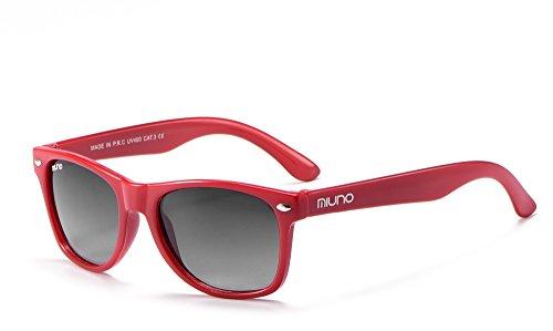 Miuno Kinder Sonnenbrille Wayfare für Jungen und Mädchen Etui 2688 (Rot)