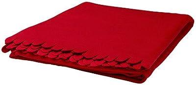 IKEA POLARVIDE-Manta 130x 170cm, color rojo