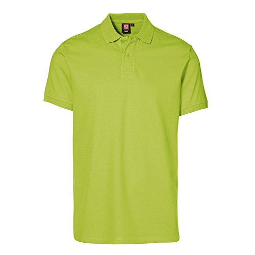 ID Herren Kurzarm Stretch Pique Polo Shirt Limette