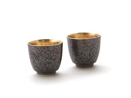 Miyazaki - Sake Becher Shuki aus japanischem Arita-Porzellan der Geschirr-Serie Shuki. 2er Set. 40 ml. Hergestellt in Dem berühmten Arita Porzellan Sake-becher-set