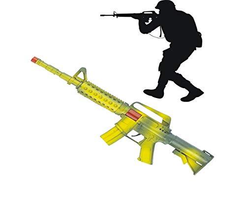jameitop® XL Gewehr MG Maschinengewehr mit Sound und FUNKEN Rattergewehr 44 cm - Mens Spielzeug Soldaten Kostüm
