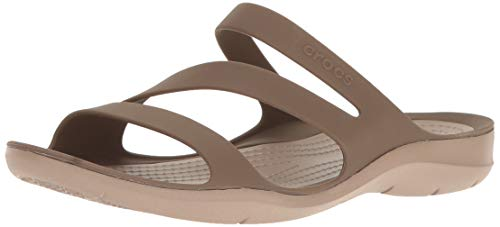 crocs Swiftwater Damen Sandalen, Beige (walnuss), 42-43 EU -