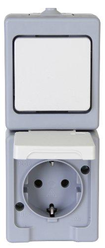 Preisvergleich Produktbild Kopp 130148003 Kombination Senkrecht Schalter Aufputz-Feuchtraum Standard