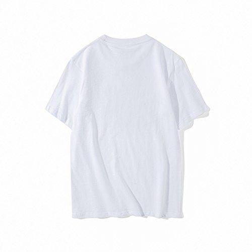BOMOVO Herren RIPNDIP T-Shirt Kurzarmshirt Print-Shirt Weiß