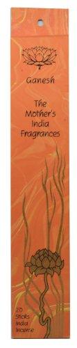 Ganesha-Figur, hohe Qualität, handgefertigt, Fair Trade, die Mother's India Duftstoffe, 20 Sorten Räucherstäbchen, Lavendel, Rose mit einem Hauch von &Rosmarin, Brenndauer ca. 1-2 Stunden-ideal für Meditation Entspannung -kostenloser Versand!