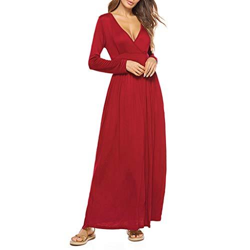 ce3bc8d672b203 JiaMeng Boemia Abiti Lunghi Donna Eleganti - Estivi Vestiti Casual Vintage  Maxi Abito Abiti Donna Formale