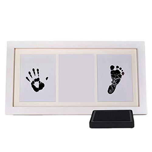 wdoit Creative Foto Bilderrahmen Baby Handabdruck und Fußabdruck Andenken Kit Neugeborene Baby Foto enthalten clean-touch Tinte Pad schaffen zu Baby 's Print