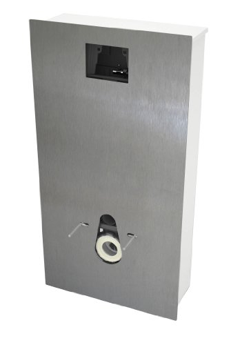 Magispace 55719042 für Unterputz-Spülkasten, gebürstetes Aluminium