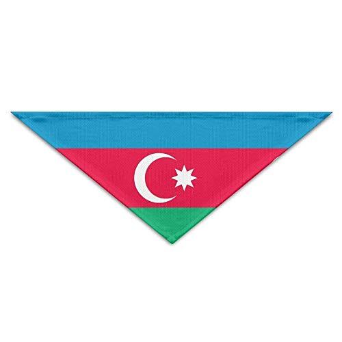 Rghkjlp Bandera de Azerbaiyán Bandana Triángulo Pañuelo Buñuelos Bufandas Accesorios para Perros...