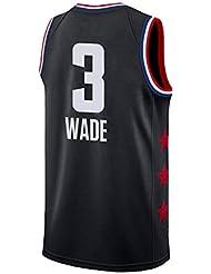 SEYE1° Camiseta Wade Miami Heat # 3,2019 NBA, Camisetas De Baloncesto,