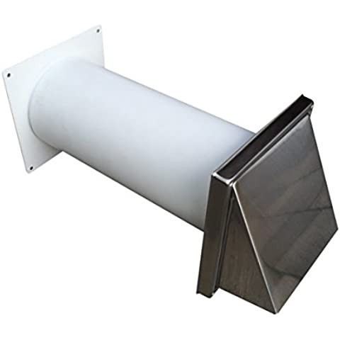Conducto telescópico-ventilador de conexión DN 100 de acero inoxidable de aire de salida de la capilla