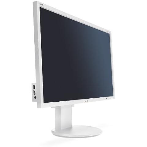 NEC EA243WM - Monitor TFT panorámico de 61 cm/ 24 pulgadas(led, DVI, VGA, HDMI, tiempo de reacción 5ms), color blanco