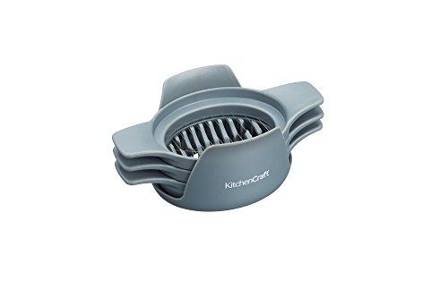 Kitchen Craft KCFOODSLICE3PC 3 in 1 Lebensmittelschneider/Wedger/Viertel Schneider, Kunststoff, grau, 8,3 x 14 x 5,6 cm