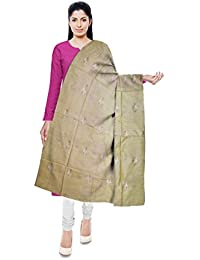 Mubarakpur Weaves' Women's Cotton Silk Handloom Dupatta (Off-White) - B0785Q24CC