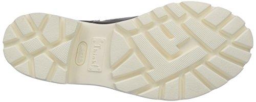 Think BRACCA Damen Chelsea Boots Schwarz (SZ/WEISS 08)
