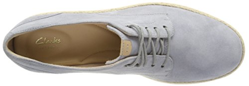Clarks Damen Teadale Rhea Brogues Grau (Light Grey Suede)