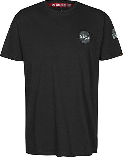 Alpha Industries Herren Oberteile/T-Shirt Space Shuttle Schwarz