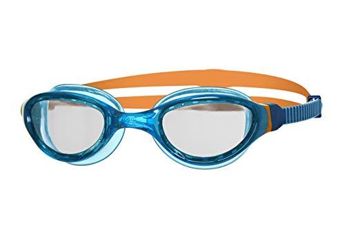 Zoggs Phantom Curve Junior with UV Protection and Anti-Fog Gafas de natación, Infantil, Blue/Orange/Clear, 6-14 años