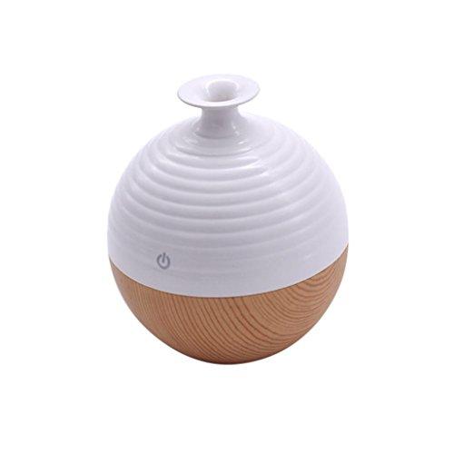 Luftbefeuchter,Jaminy 130ml USB LED Aroma Luftbefeuchter Ätherisches Öl Diffusor Aromatherapie Reiniger FÜR Wohnzimmer, Kinderzimmer, Schlafzimmer, Baby- Und Yogazimmer, SPA, BÜRo Usw. (C) 5l X Usb