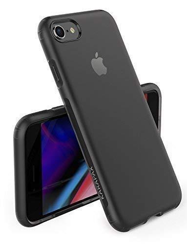 iPhone 8 7 Hülle, [Unterstützt kabelloses Laden (Qi)] Anker KARAPAX Touch Case, aus weiche TPU [Slim Fit] für iPhone 8 (2017) / iPhone 7 (2016)-Schwarz