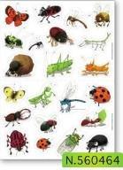 maildor-hoja-de-pegatinas-de-mural-reposicionable-insectos-tema-paquete-de-4