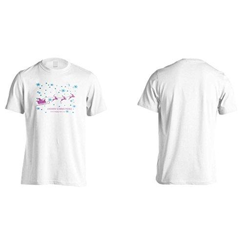 BUON BUON NATALE NATALE novità divertente NUOVO Uomo T-shirt l89m White
