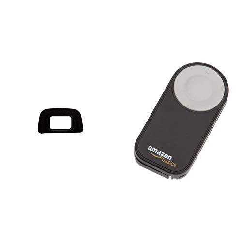 Nikon DK-20 Augenmuschel für versch. Nikon Digitalkameras & AmazonBasics IR-Fernauslöser für Nikon SLR-Digitalkameras (Hood Lens Camera D90 Nikon)