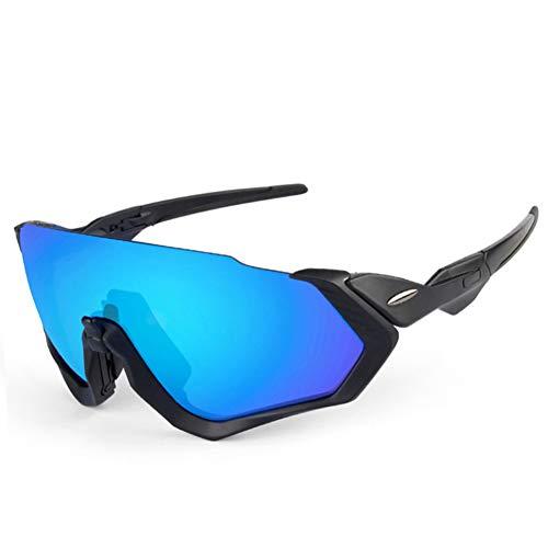 ZKAMUYLC Sonnenbrille5 objektiv Radfahren Brille polarisierte Brille für Fahrrad 2018 männer Frauen Fahrrad Brillen schwarz weiß grün rosa orange 6 Farbe Rahmen
