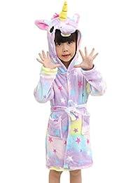 Oyfel Unicornio Pijamas Enterizo Animal Niño Niña Disfraces De Dibujos Ropa de Dormir Franela Traje de