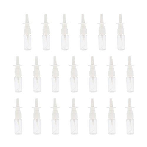 Homyl 20stk Kunststoff-Nasen-Rachen Feinen Nebel Sprühflasche Pumpzerstäuber Sprühflasche Nasenspray Flasche Mit Cap-weiß - 15ml