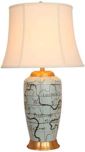 CWJ Kinder Beleuchtung, Schreibtischlampen, Dekoration Tischlampe Handbemalte Keramik Schlafzimmer Wohnzimmer Luxus Dekorative Nachttischlampe Lernen Leselicht