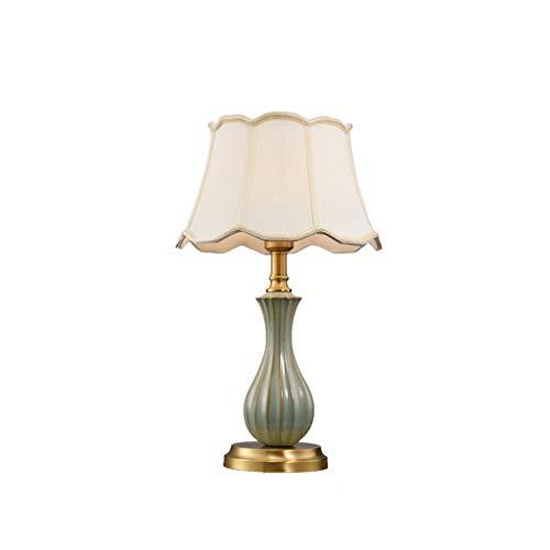 Lampe de table F Lampe de table en cuivre de salon chaud Chambre à coucher simple lampe de chevet décorative