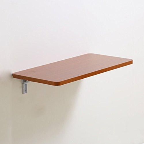 Wand-Laptop Tisch Klapp Esstisch Computer Schreibtisch Wand Hängende Beistelltisch Farbe Größe Optional (Farbe : Teak Color, größe : 60cm*40cm) -