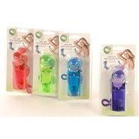 Handventilator mit Schlaufe inkl. Batterien multicolor Mini Ventilator ühler Raum-Lüfter Luft-Erfrischer Lüftung